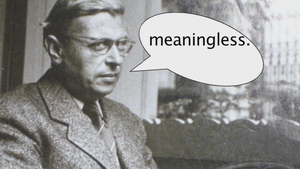 Jean-Paul Sartre dishes knowledge in this video essay.