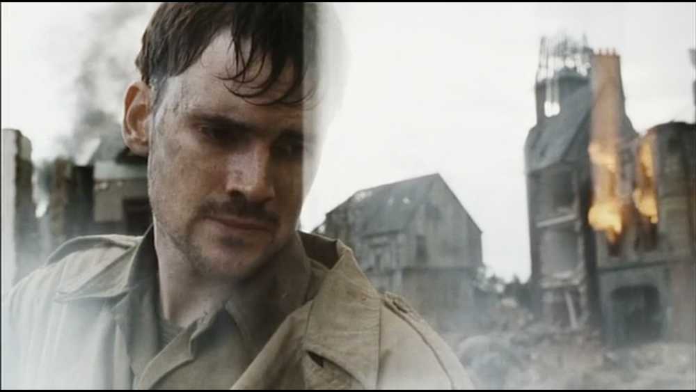 All of the problems I have with  Saving Private Ryan  are apparent in this shot late in the film.