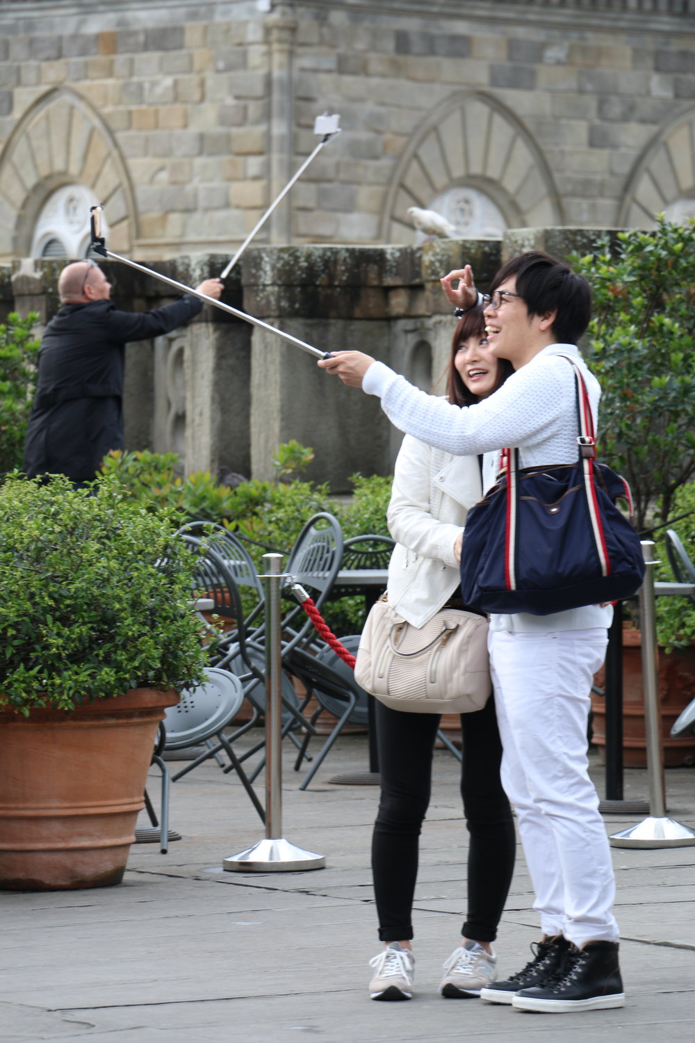Tourists in Florence, Italy.