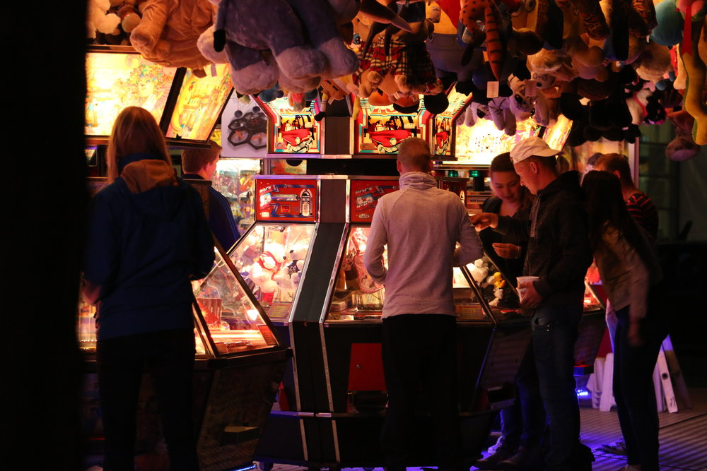 Fair goers in Utrecht, the Netherlands.