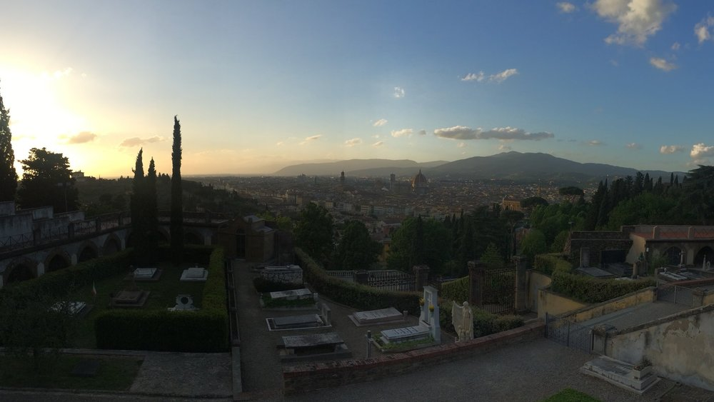 My Instagram view from the Abbazia di San Miniato al Monte. The characteristics of a Renaissance painting would've simply been obvious. Shot on an iPhone 5s.