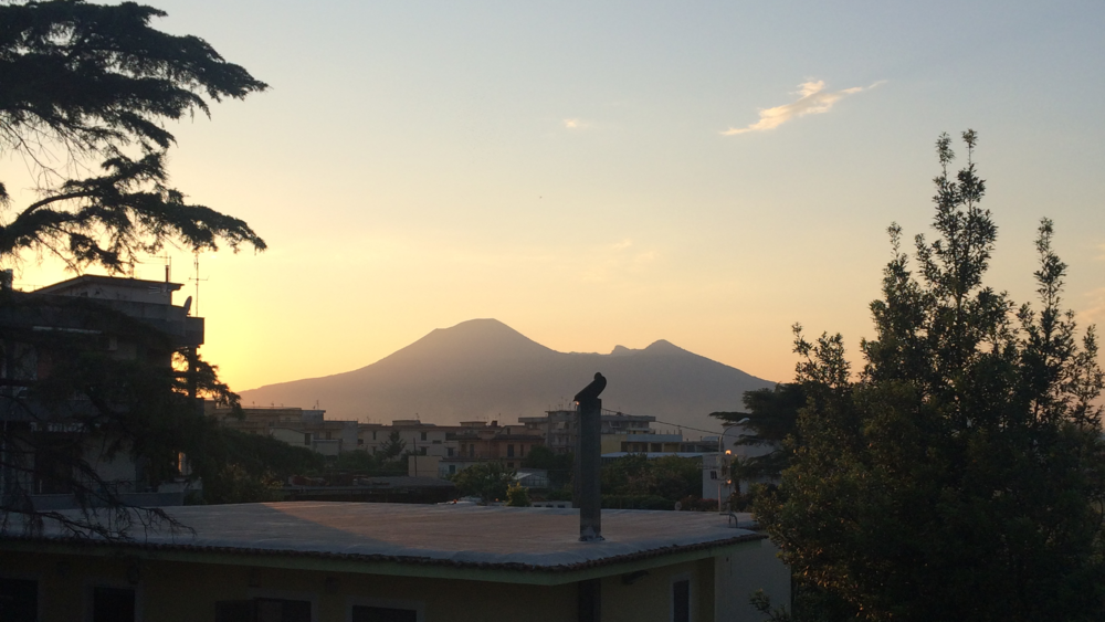 Vesuvius from an Air BNB. Shot on an iPhone 5s.