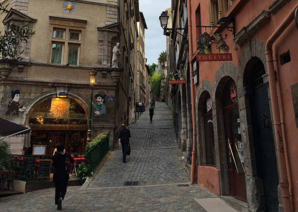 A typical old style street in Lyon. Shot on an iPhone 5s.