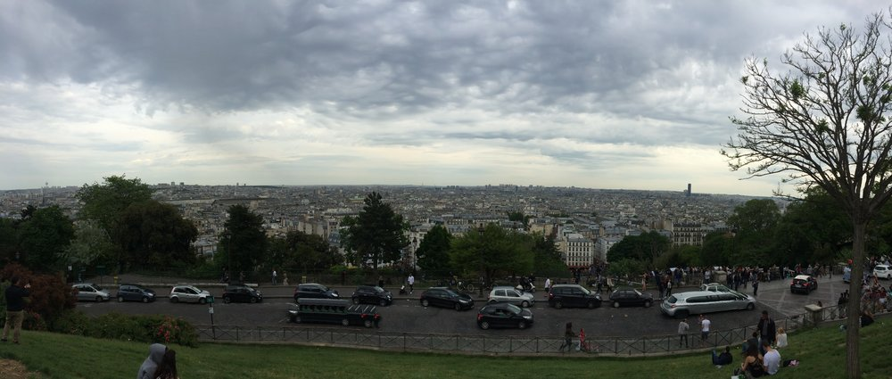 The view from beneith the    Sacré-Cœur  in Montmartre. Shot on an iPhone 5s.