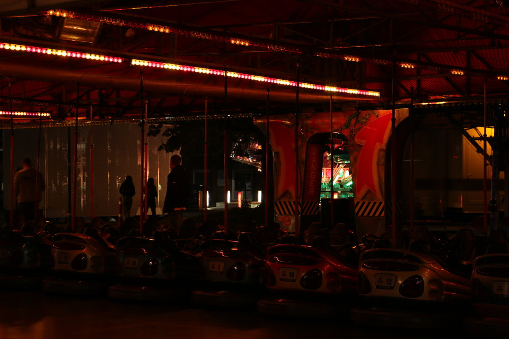 Bumper cars at a fair in Vleuten. Shot on a Canon 70D.