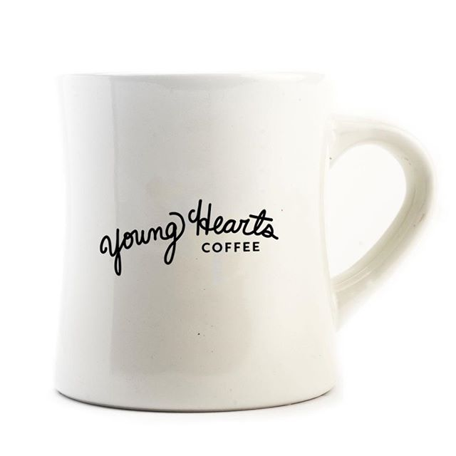 Nothing says that's a damn fine coffee like a @youngheartscoffee diner mug. Available Friday alongside our first 3 amazing blends.