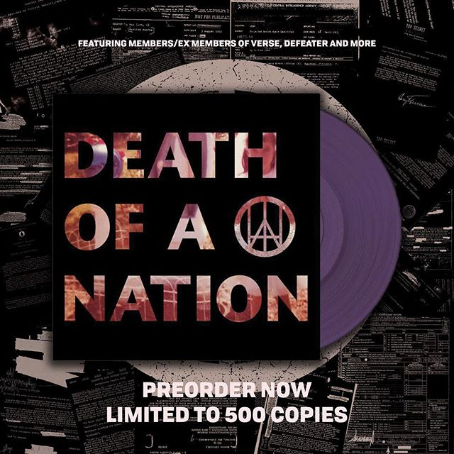 "Preorders are up now for the 12"" of @deathofanationhc's EP."