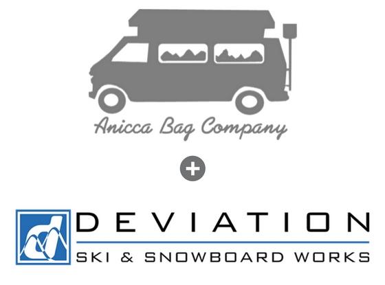 Deviation Skis & Anicca Bags logo