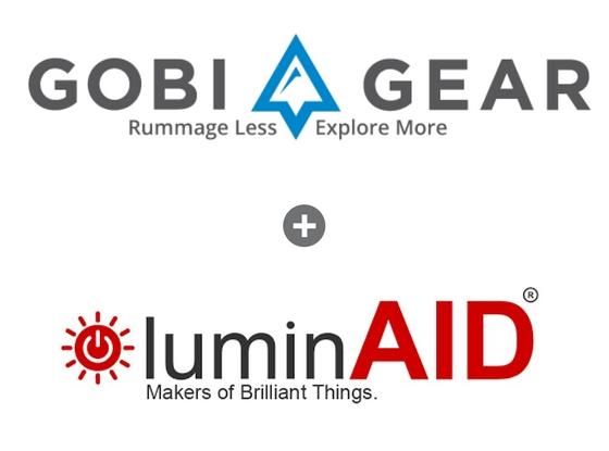 Gobi Gear + LuminAID logos