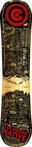 COLORADO NATIVE LIMITED EDITION SNOWBOARD