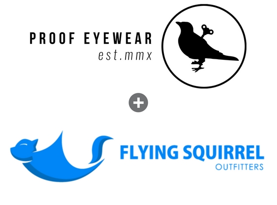 Proof Eyewear + Flying Squirrel Outfitters logo