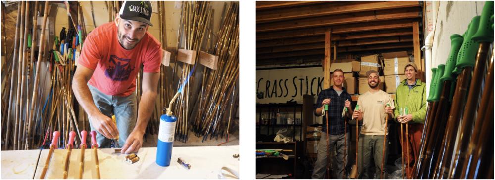 Grass Sticks Bamboo Ski Poles