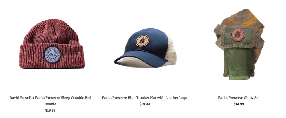 Parks Perserve hats