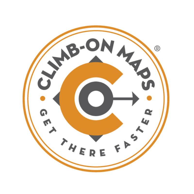 Climb-On Maps logo