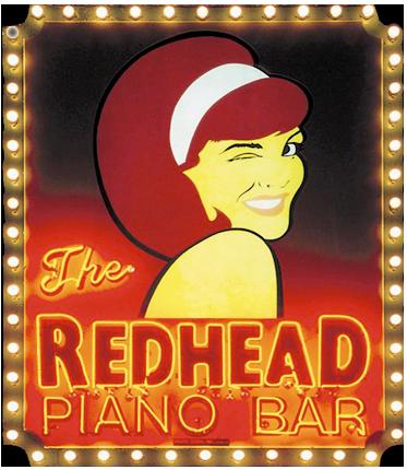 Bar piano redhead