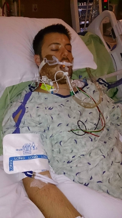Clayton intubated, in a coma, November 2013