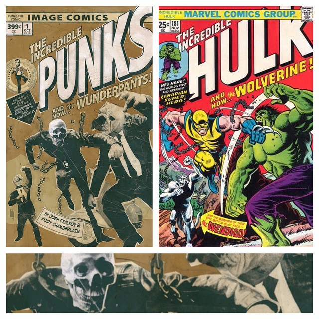 PUNKS exclusive for NYCC is an homage to Hulk 181. With a Vespa.