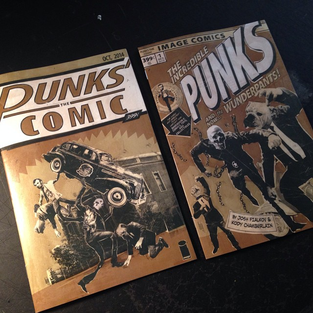 Both of the PUNKS THE COMIC variants just showed up at my studio.