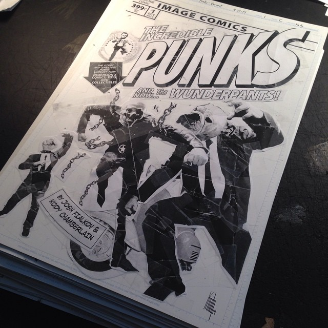 Punks original art is stacking up pretty fast. Here's one you haven't seen yet.