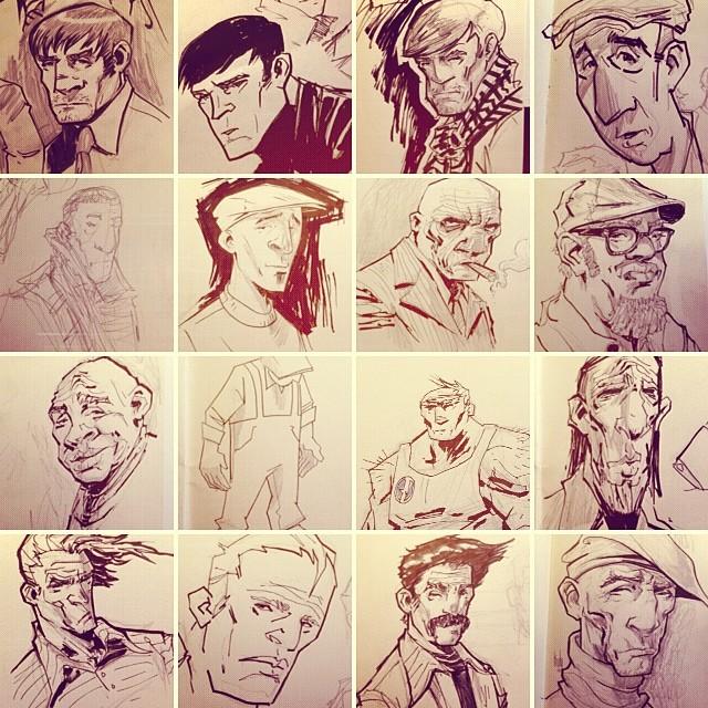 Misc sketchbook stuff.