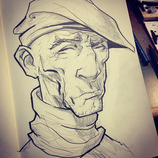 A look inside the sketchbook.