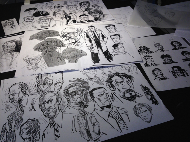 I laid out my pool of character sketches today for the new series. Still a few pit parts I need to 'cast' and sometimes the right look can make a world of difference. Worked about another hour on the script today, and I'll probably spend part of next week revising the first 5 ot 6 issues in preparation for art production.