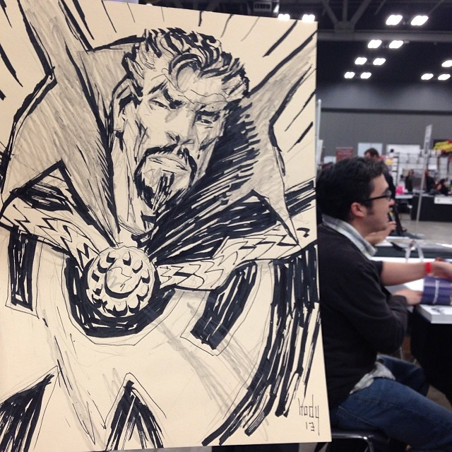 Warm up Doctor Strange commission with a Joe Eisma cameo.