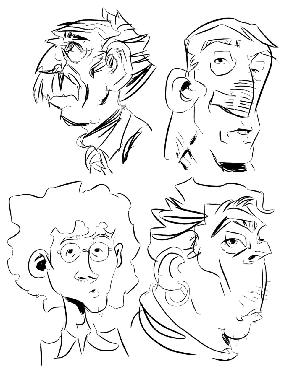 Doodles using Procreate for iPad.