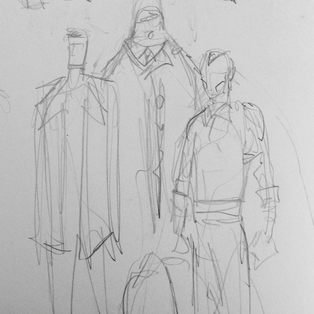 Character doodles.