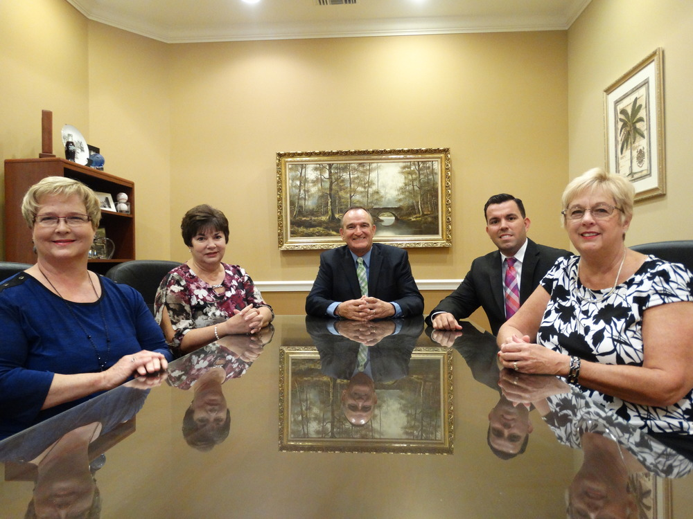 OUR TEAM: (from left to right) Grace White, Kathy Walsh, Donald White, Steve Magallanes and Connie Kramer