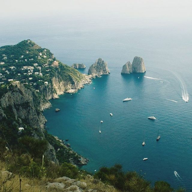 @slayterdesigns slayterdesigns is cooler than me because she climbed Monte Solaro instead of using the chairlift, but nothing takes away from the view. My pic is from 6 years ago, but check out her insta if you want to see her current adventures through Europe. #capri #capriisland #italy #italia #europe #travel #wanderlust