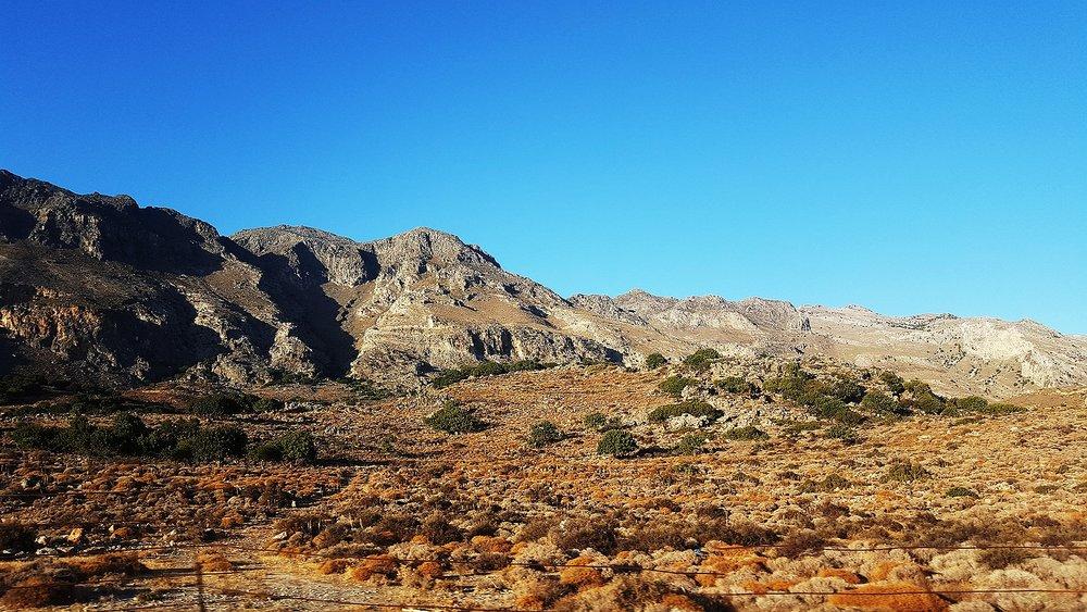 Kretansk höst i bergen.