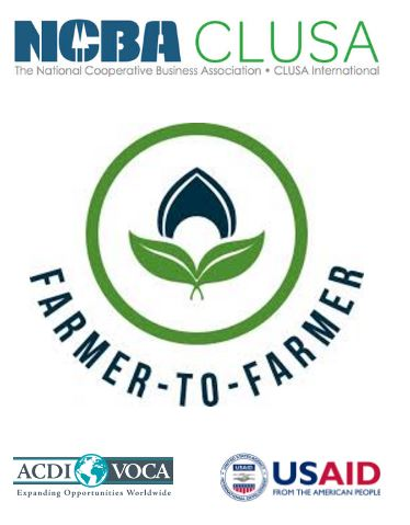 We received implementation support for the first two weeks of the project from NCBA CLUSA through a USAID-funded Farmer to Farmer program managed by ACDI/VOCA! We greatly appreciate the support from these amazing organizations! Thank you!