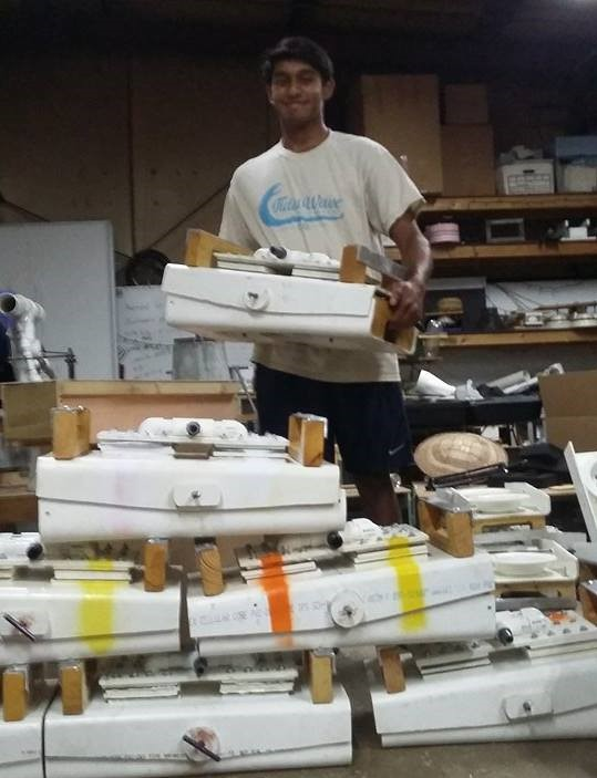 Roshun is packing up 7 Rocker Water Pumps to donate to farmers in Tanzania while working on Full Belly's Hand Washing Station project there! He leaves with his wonderful family, the Batish's this Friday morning.