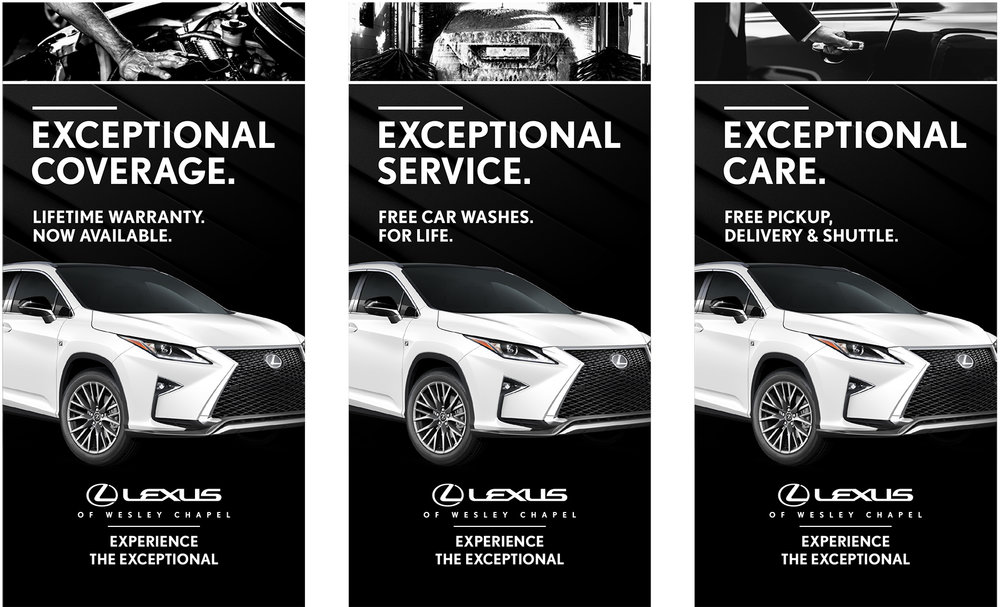 Showroom banners creative we helped to develop for the launch of this new dealership in Florida.