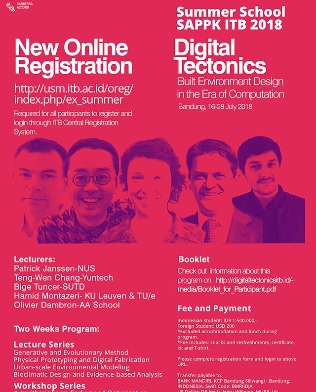 Meanwhile, in the hot dry moment of indonesian endless summer, Olivier Dambron is providing a series of lectures and workshops of laybugtools at Digital Tectonics, the summer school of SAPPK ITB.  Questions arise, what's a comfortable temperature in the tropics? How to design without AC? How to allow plenty of daylight in avoiding the sun in?  #digitaltectonics #itb #tropicaldesign #hot #parametric #environmentaleducation #environmentaldesign #ladybugtools