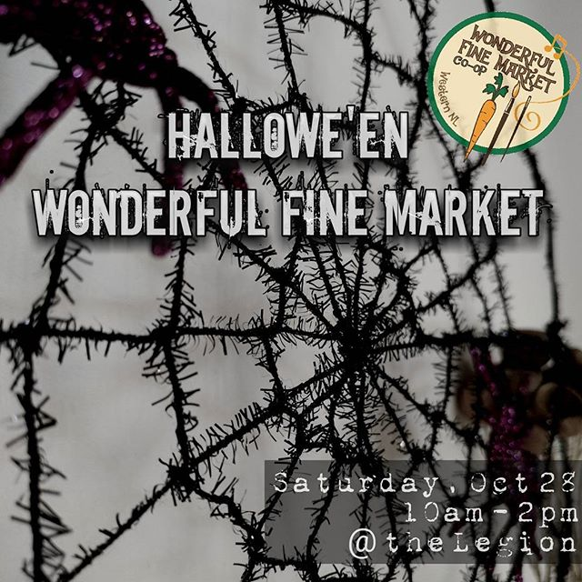 Psst! Did you hear? There'll be all sorts of spookalicious-ness at the Wonderful Fine Hallowe'en Market.If you're looking for hand made tasty treats to set your taste buds a-tingling,we're your one-stop-shop for Hallowe'en! Enjoy freshly ground coffee and live music (our treat for you, every week!) while the little ones check out the coloring contest. But keep an eye out for ghosts, goblins, superheroes and magical characters roaming 'round.Bring the entire family for a Wonderful Fine Hallowe'en celebration!  #wonderfulfinemarket #communitymarket #FarmersMarket #buylocal #shoplocal #locallygrown #locallymade #halloween #crafts #art #WesternNL #cornerBrook #myWFMarket #saturdaymorning #weekendvibes