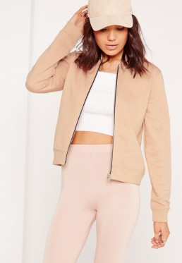 Missguided Nude Bomber Jacket