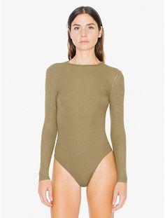 2x2 RIB LONG SLEEVE CUTOUT BODYSUIT