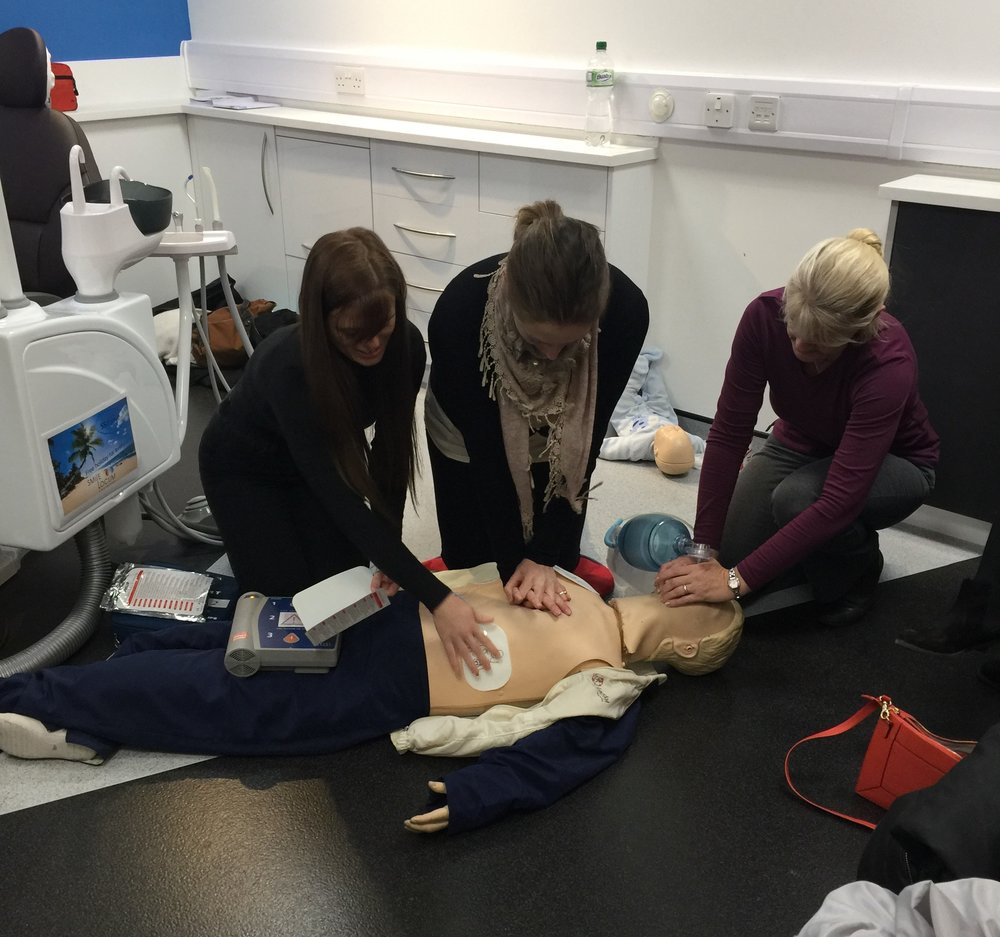 Some of the Smile Locum staff taking part in our annual ELS (Emergency Life Support) training.