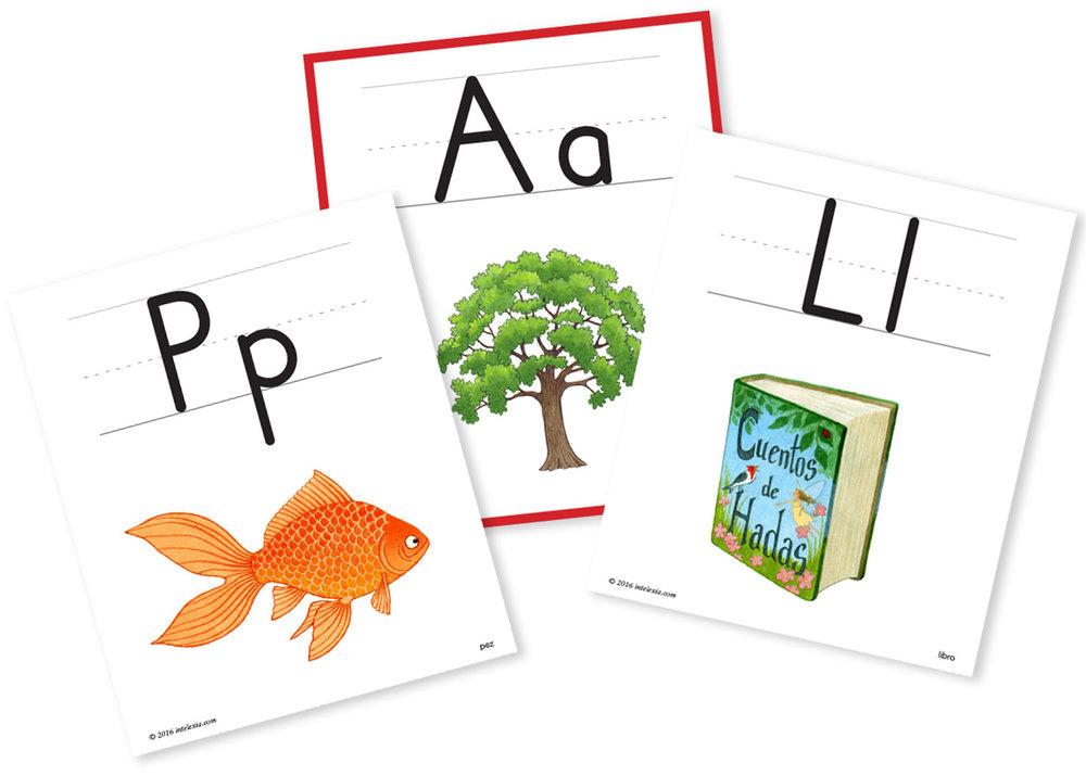 Tarjetas para introducir fonemas
