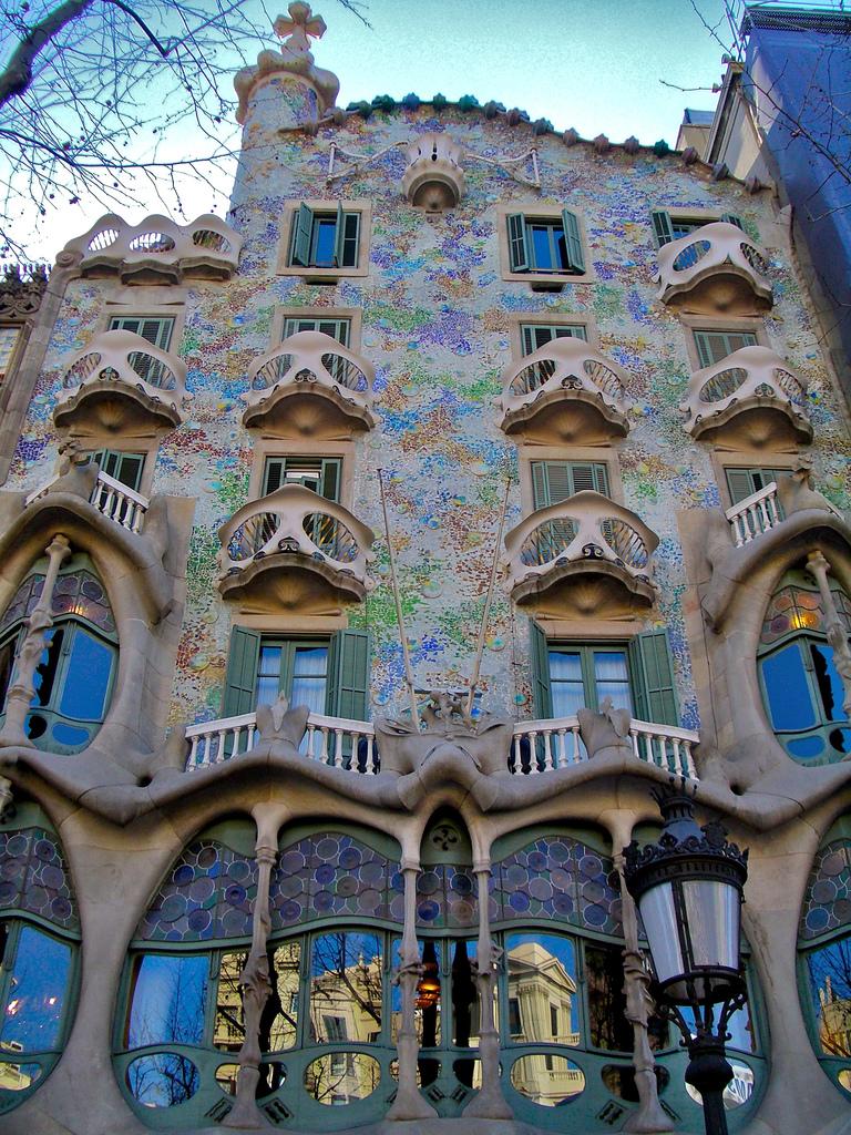Casa Batlló, Barcelona Spain. Renovated by Gaudí in 1904-1906.