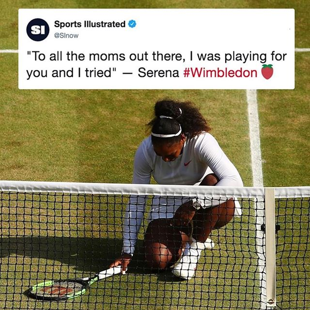🗣We ❤️ You, @serenawilliams!! #morethananathlete #salute💯 #stillachampion #Wimbledon #thetomboibrunch #becauseladieslovesportstoo #sportsentertainmentandmimosas #realityradio @sportsillustrated @wimbledon
