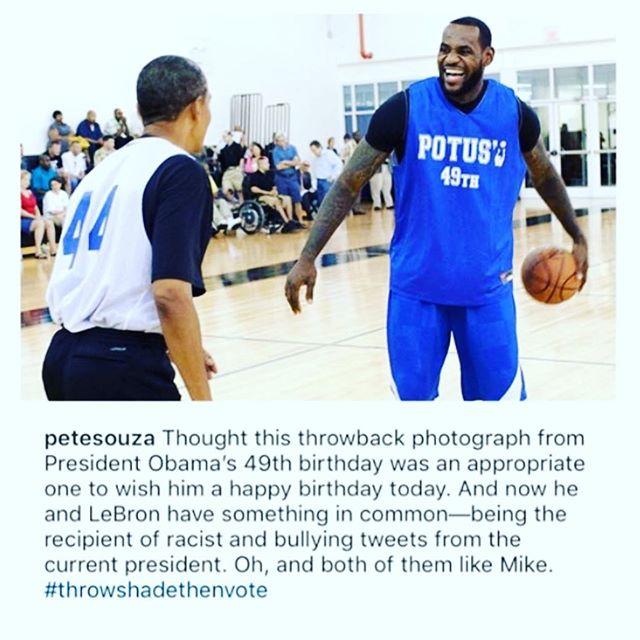 🗣Happy Born Day, @BarackObama!! 🎉🎁🎈🎁🍾🥂 #forevermypresident @kingjames #thetomboibrunch #becauseladieslovesportstoo #sportsentertainmentandmimosas #realityradio @kingjames