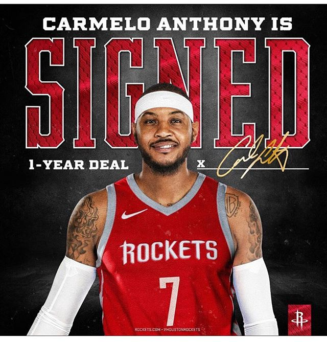 Yesssssss!! We love this! Welcome to 🤟🏾Town, @carmeloanthony!!! #thetomboibrunch #becauseladieslovesportstoo #sportsentertainmentandmimosas #realityradio🏃🏾💪🏾🏀👄🎙 @nba @houstonrockets