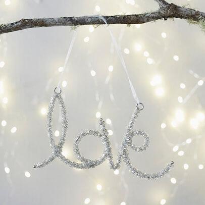 Beaded Love Christmas Tree Decoration