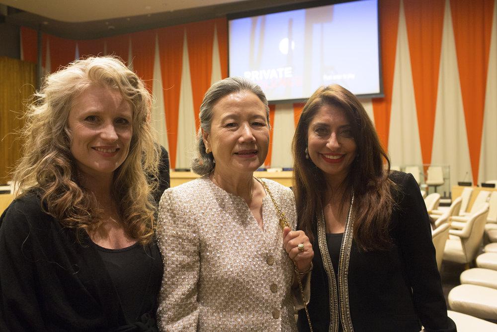 BanSoon-taek_Cynthia Hill_UNWFP Chair Muna Rihani Al-Nasser.JPG
