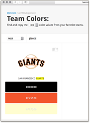 pick you favorite team hex colors