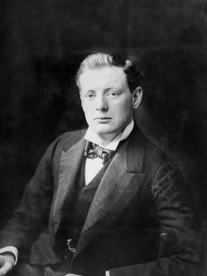 Photographer unknown. Winston Churchill . 1900. Photograph.Imperial War Museum, London.
