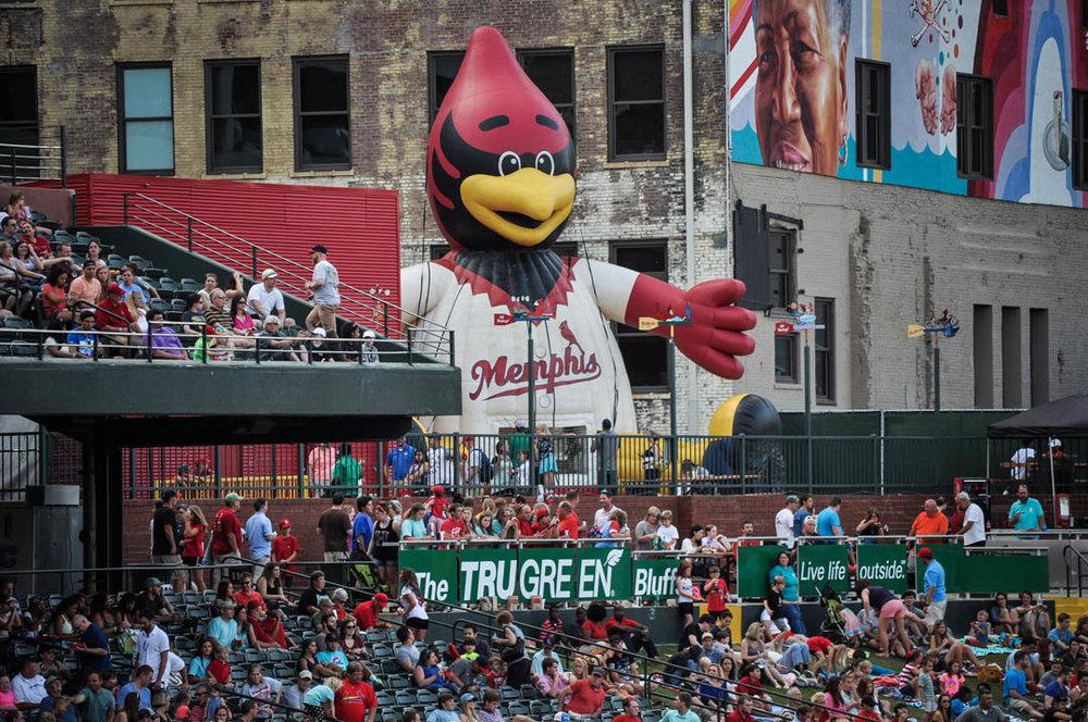 Memphis Redbirds at Autozone Park Downtown Memphis, Tennessee